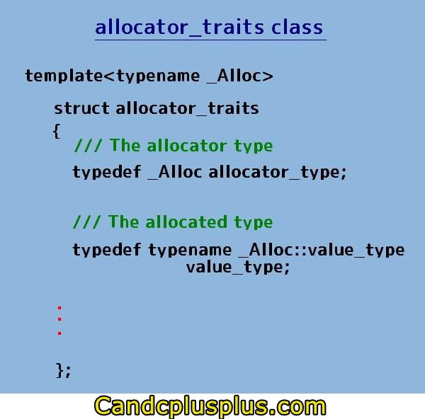 C++11 allocator_traits