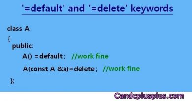 C++11 =default =delete keywords