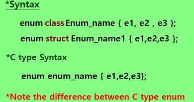 C++11 scoped enumeration